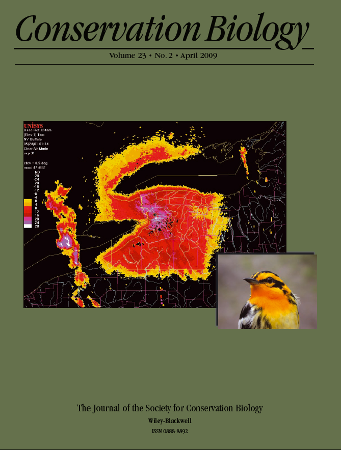 Conservation Biology (2009) Vol. 23, No. 2 Cover