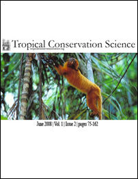 Tropical Conservation Science (2008) Vol. 1, Issue 2 Cover
