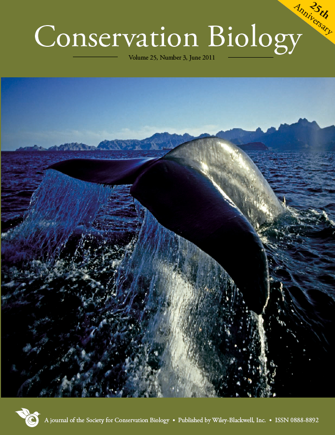 Conservation Biology (2011) Vol. 25, No. 3 Cover